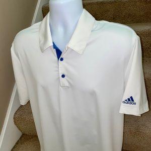 Modern *Adidas Golf* white casual golf polo shirt